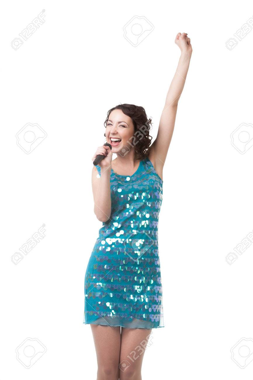 Vestido azul con blanco corto