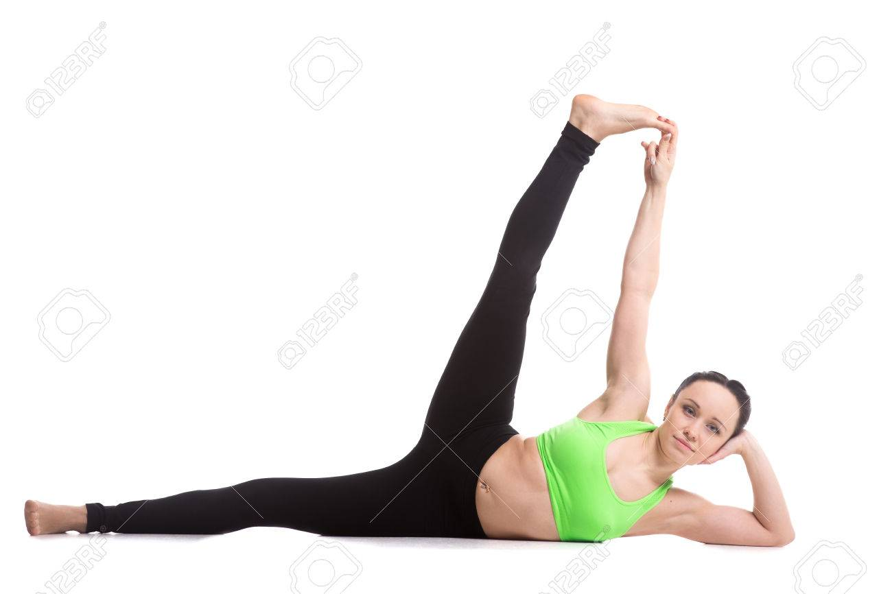 Beautiful Slim Girl Doing Fitness Workout, Exercise For Toning ...