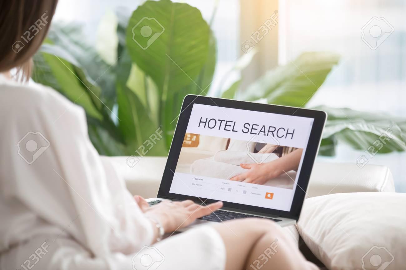 Hotel Search Woman.