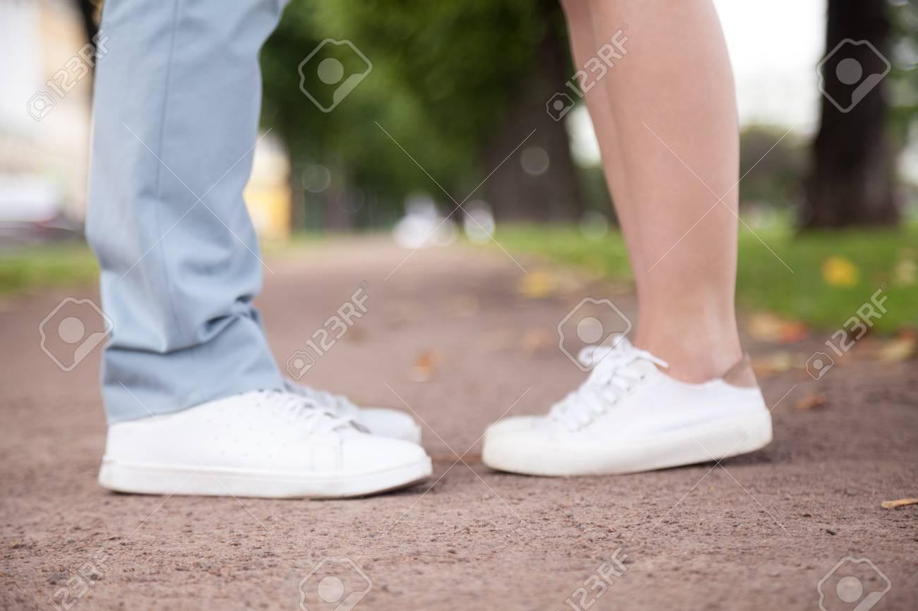 White guy feet