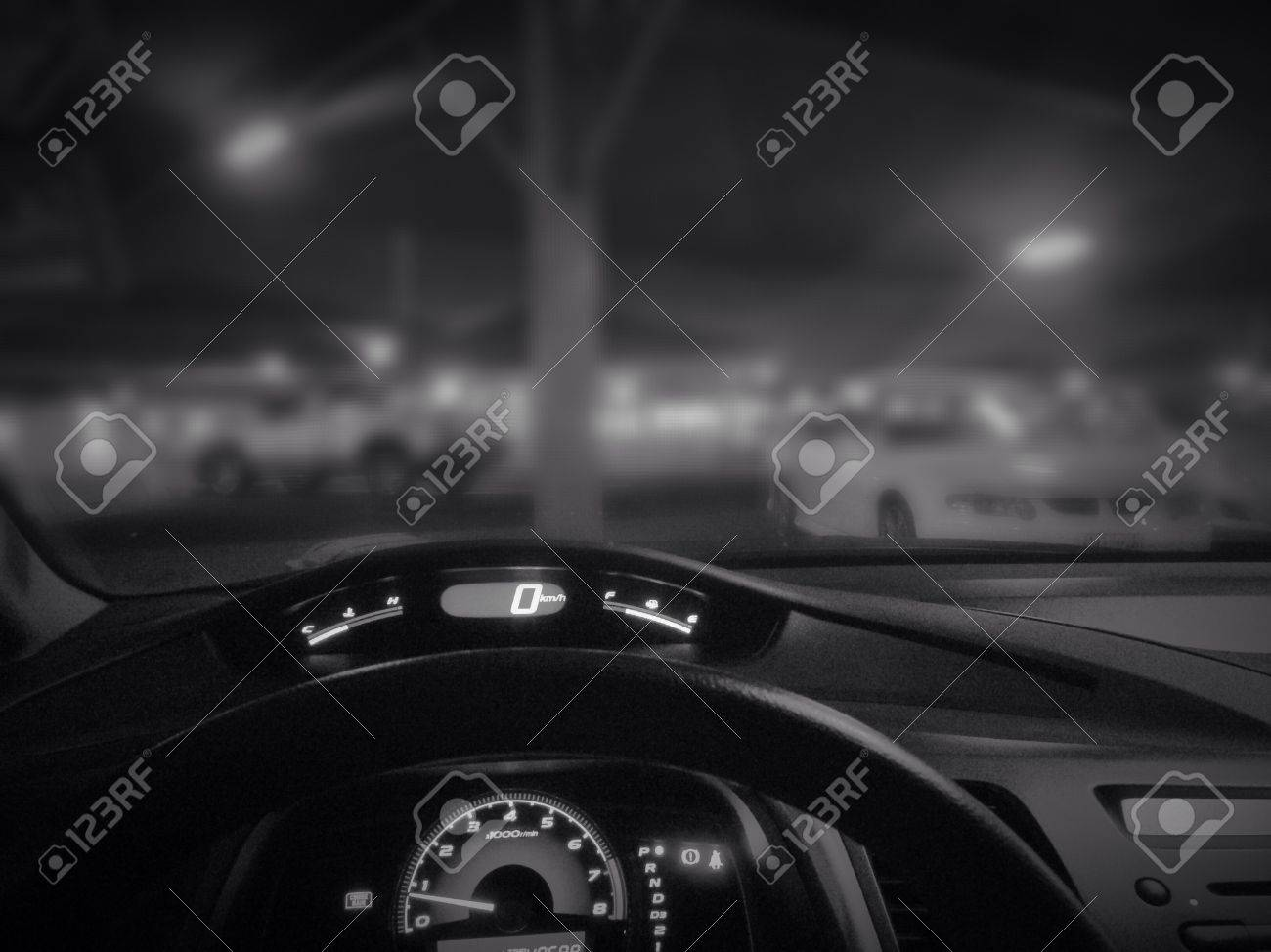 Car Dashboard During Night Stock Photo Picture And Royalty Free Image Image 22766339