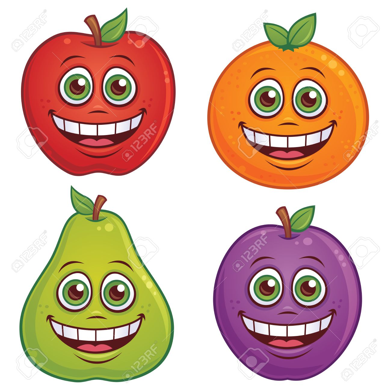 Рисунки овощи и фрукты с лицами
