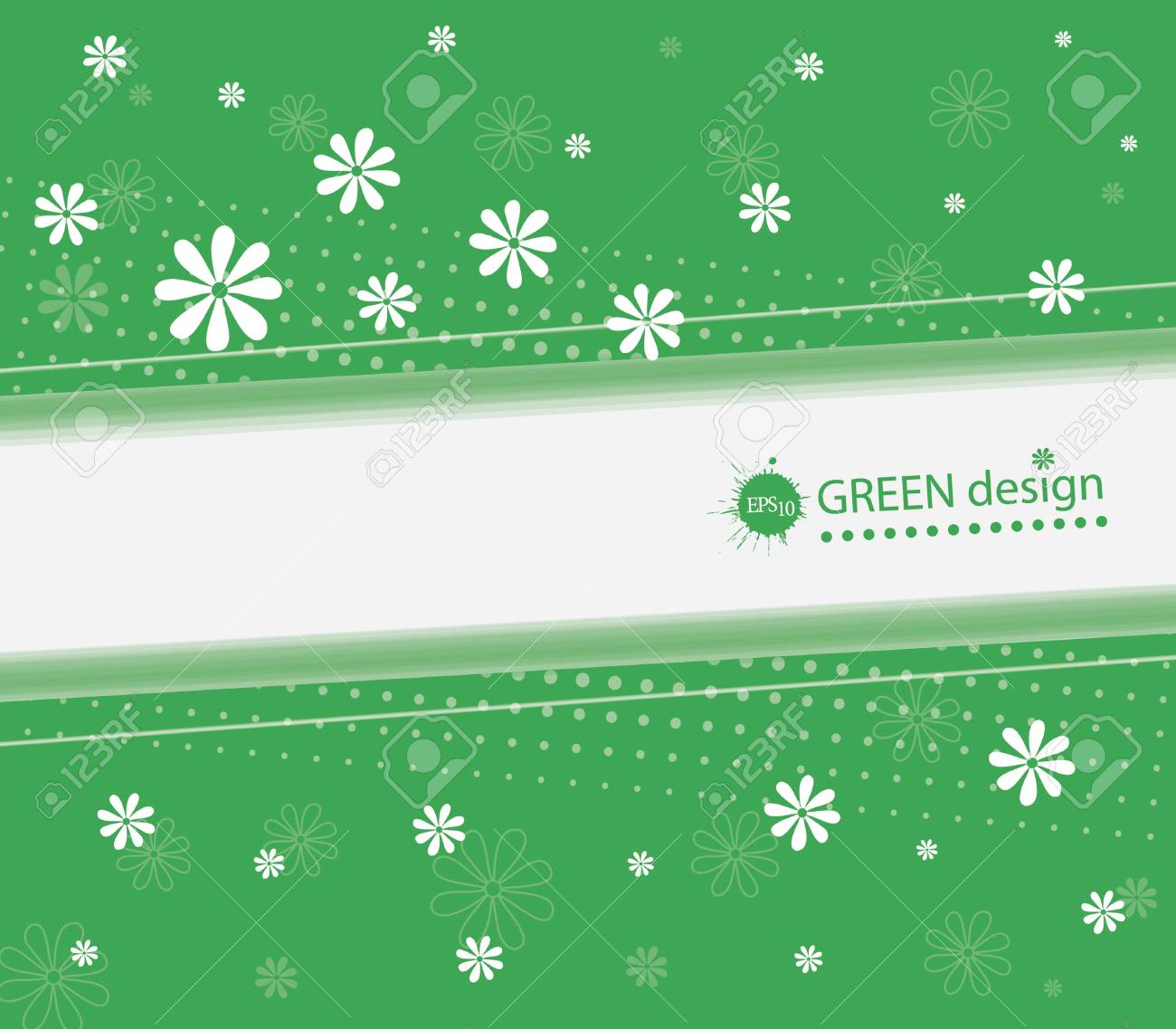 Abstract Green Background Stock Vector - 13114978
