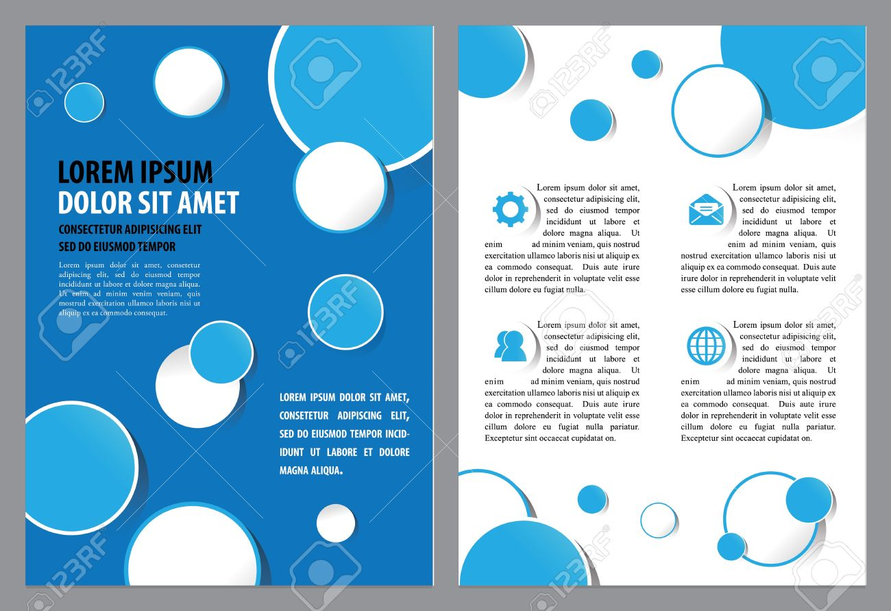 Brochure Layout Design Template Vector Illustration Layered - Custom brochure templates