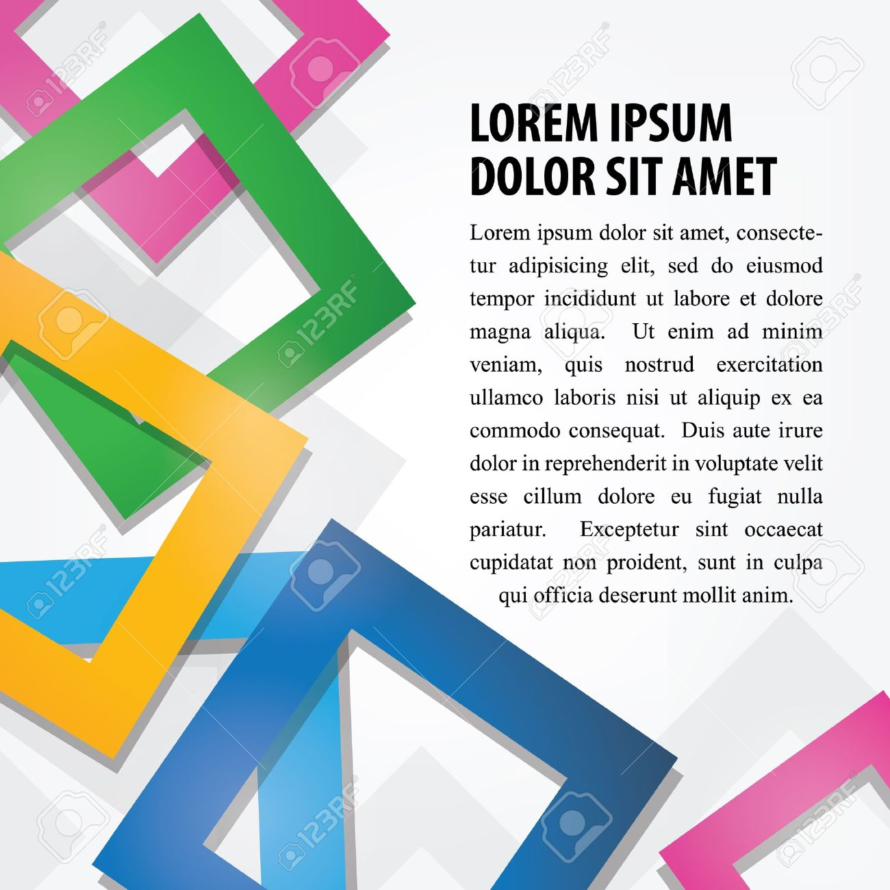 Colorful Abstract Square Background Stock Vector - 17154668