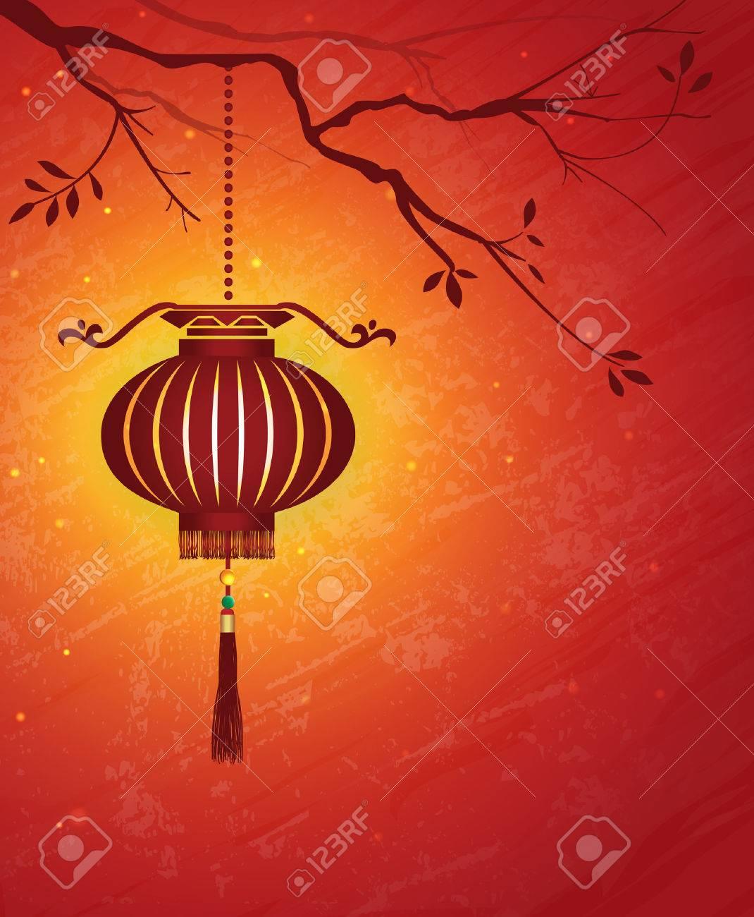 chinese new year lantern background stock vector 23476888 - Chinese New Year Lantern