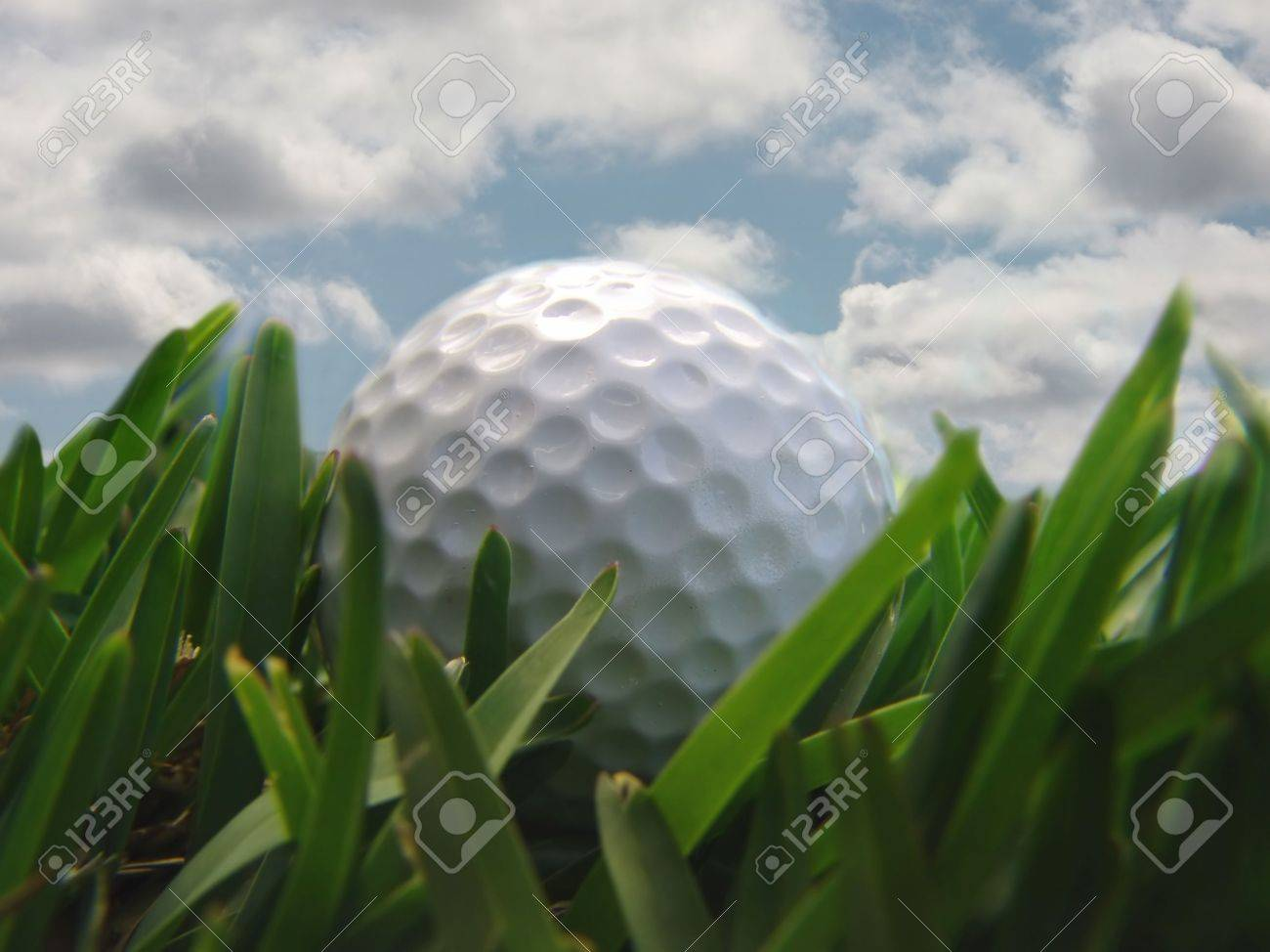 golf ball with clouds Stock Photo - 487661