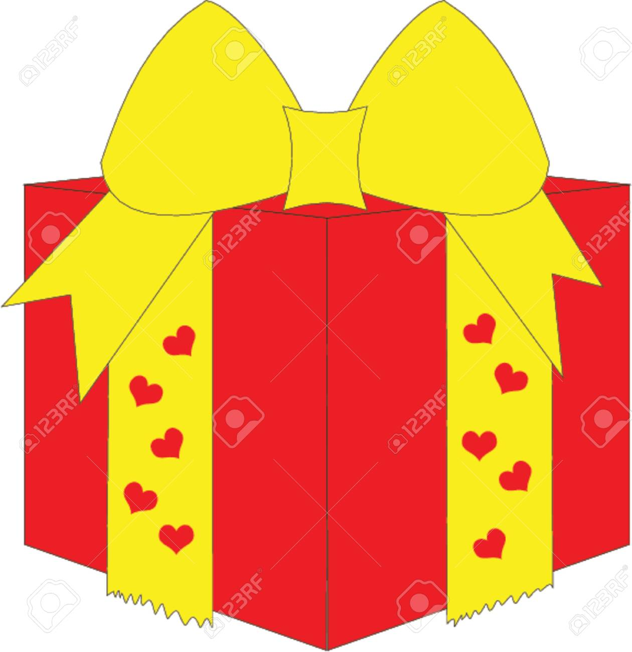 gift box with hearts Stock Vector - 502898