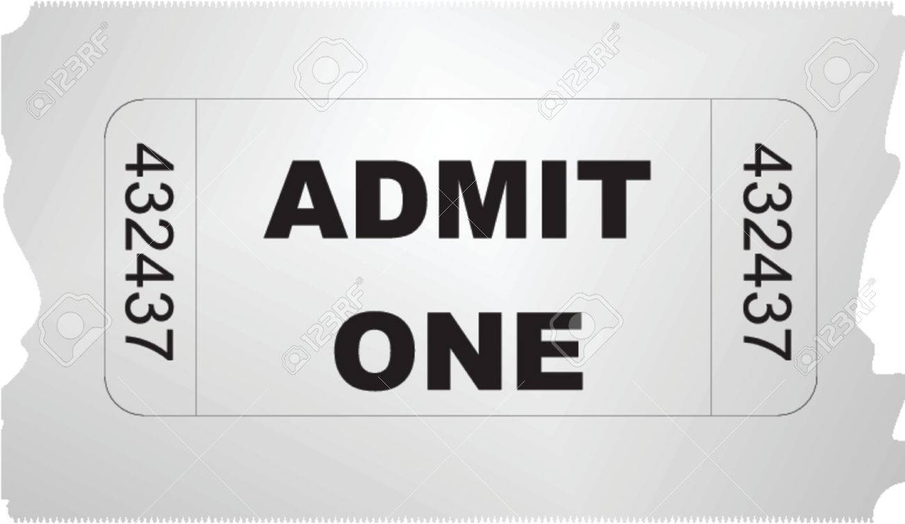 ticket admit one Stock Vector - 548593