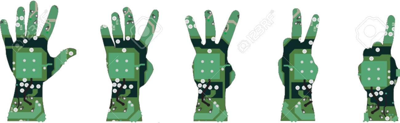 electronic hand Stock Vector - 584564