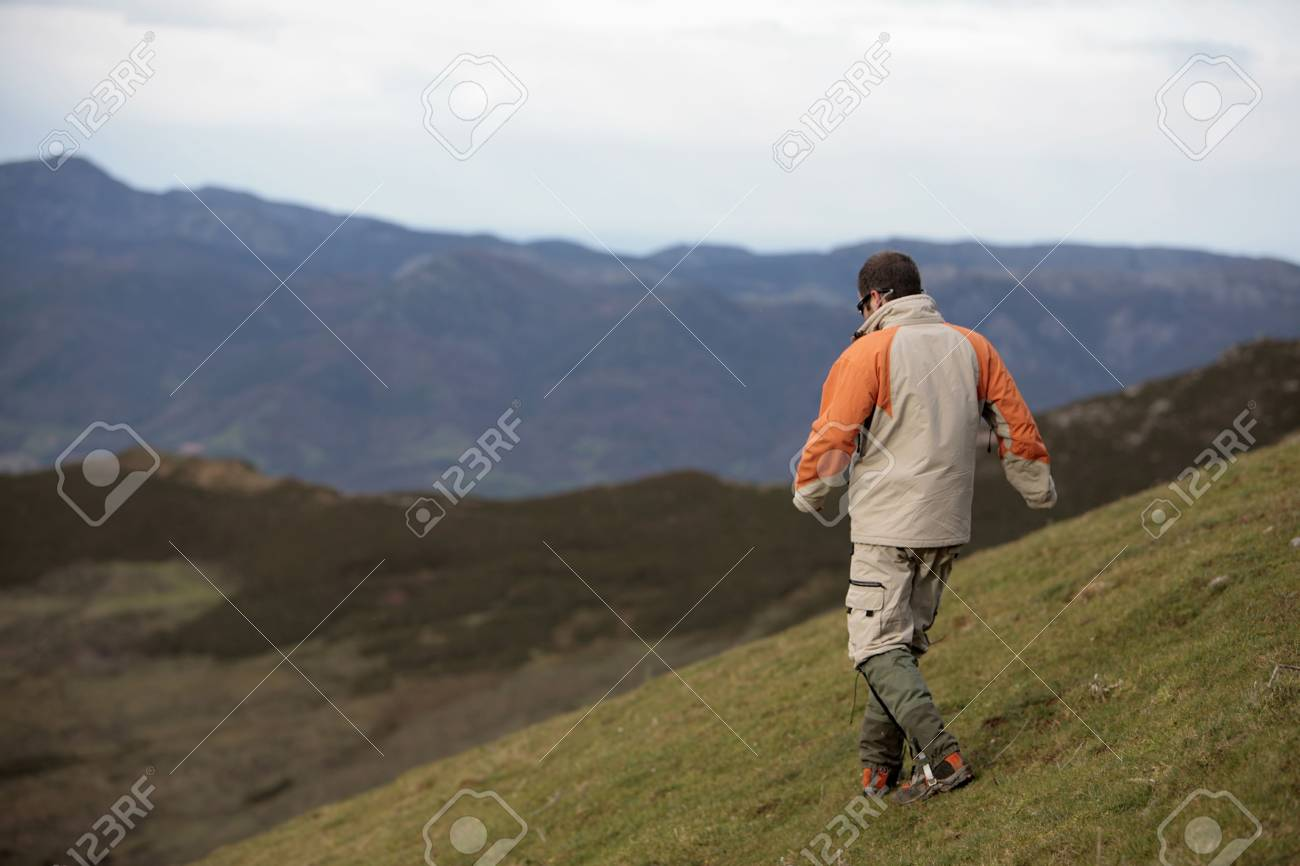 man in the mountain Stock Photo - 704336