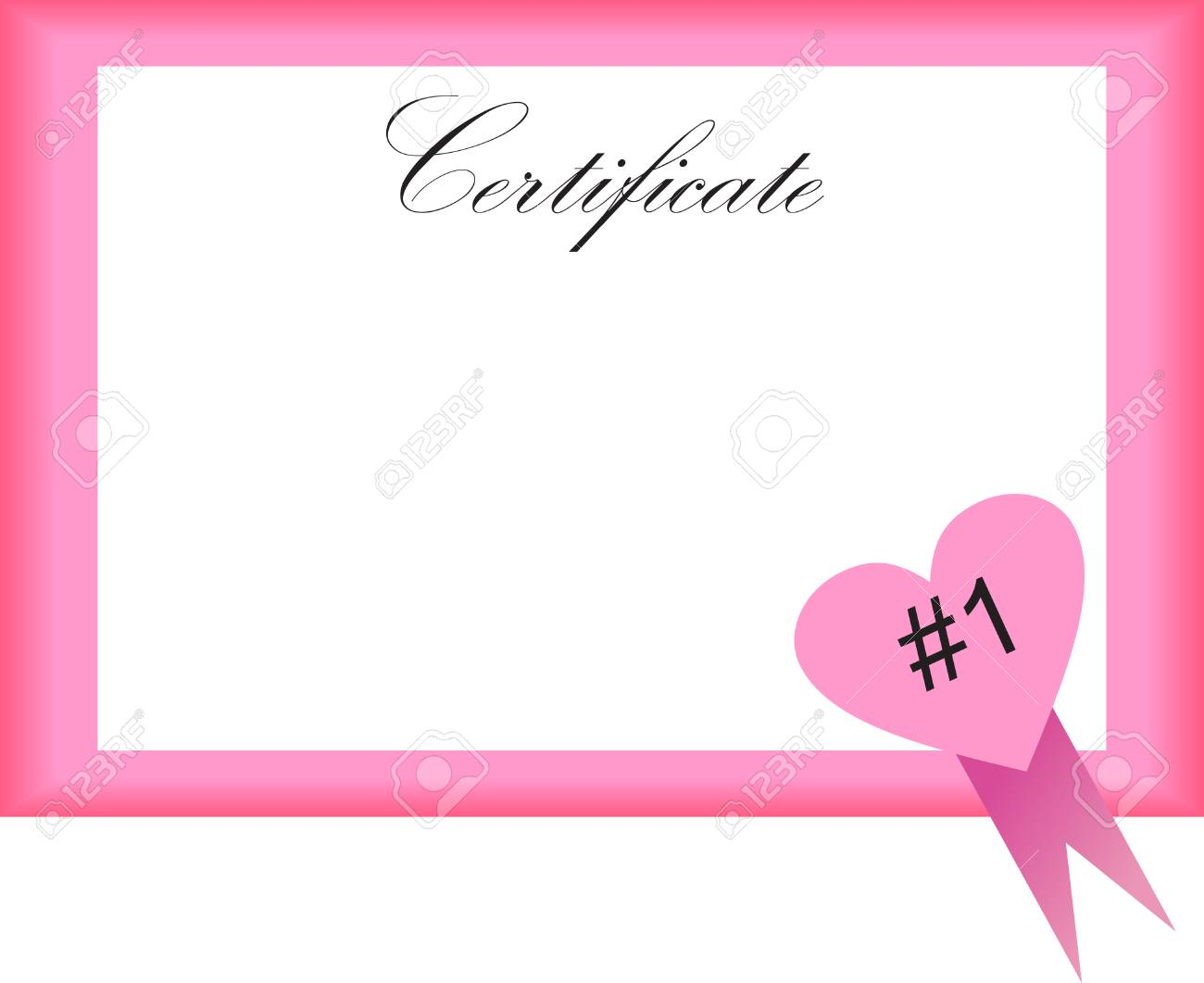 illustration of a certificate with heart Stock Vector - 2346276
