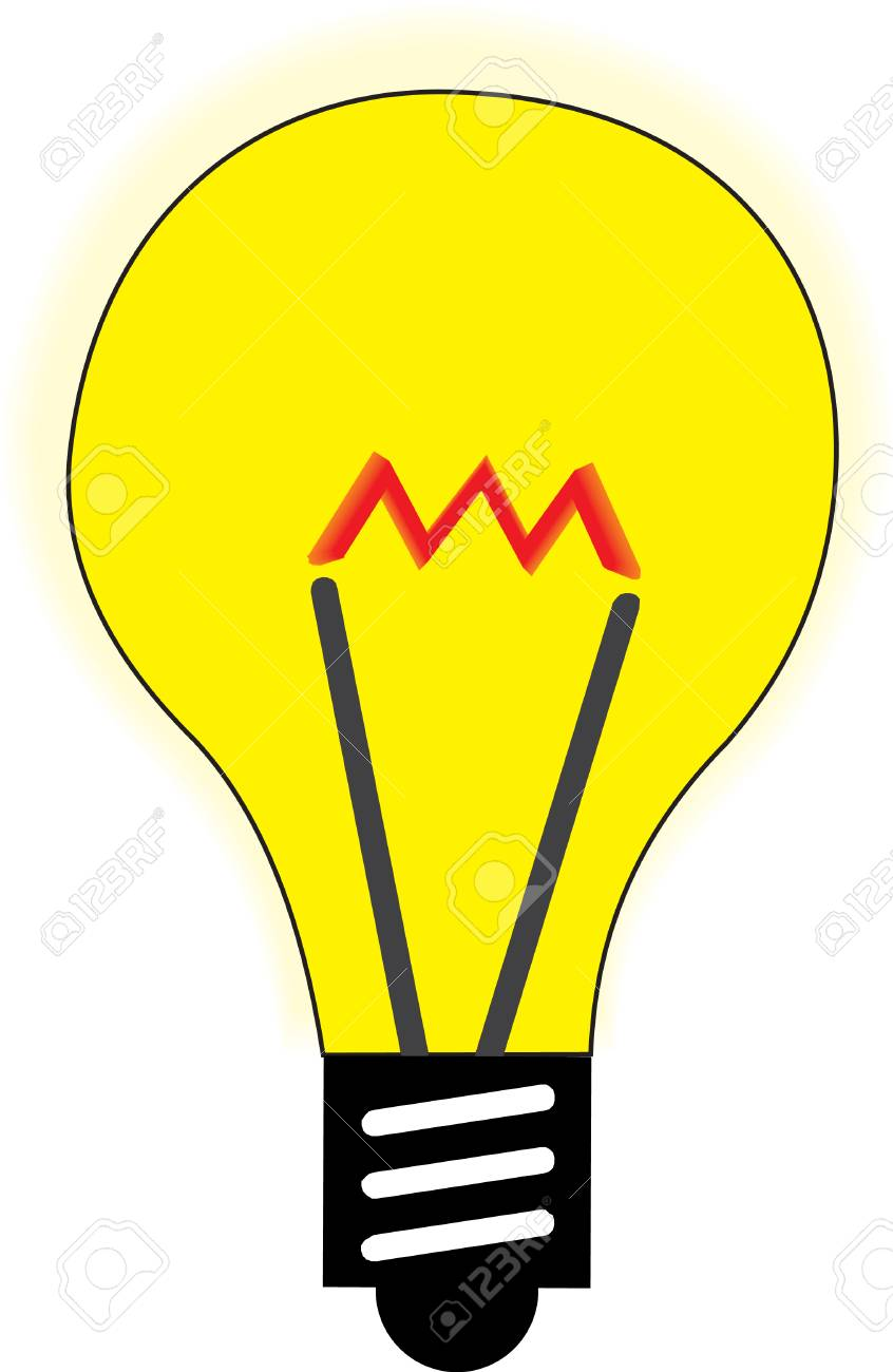 illustration of a yellow lamp Stock Vector - 2356319
