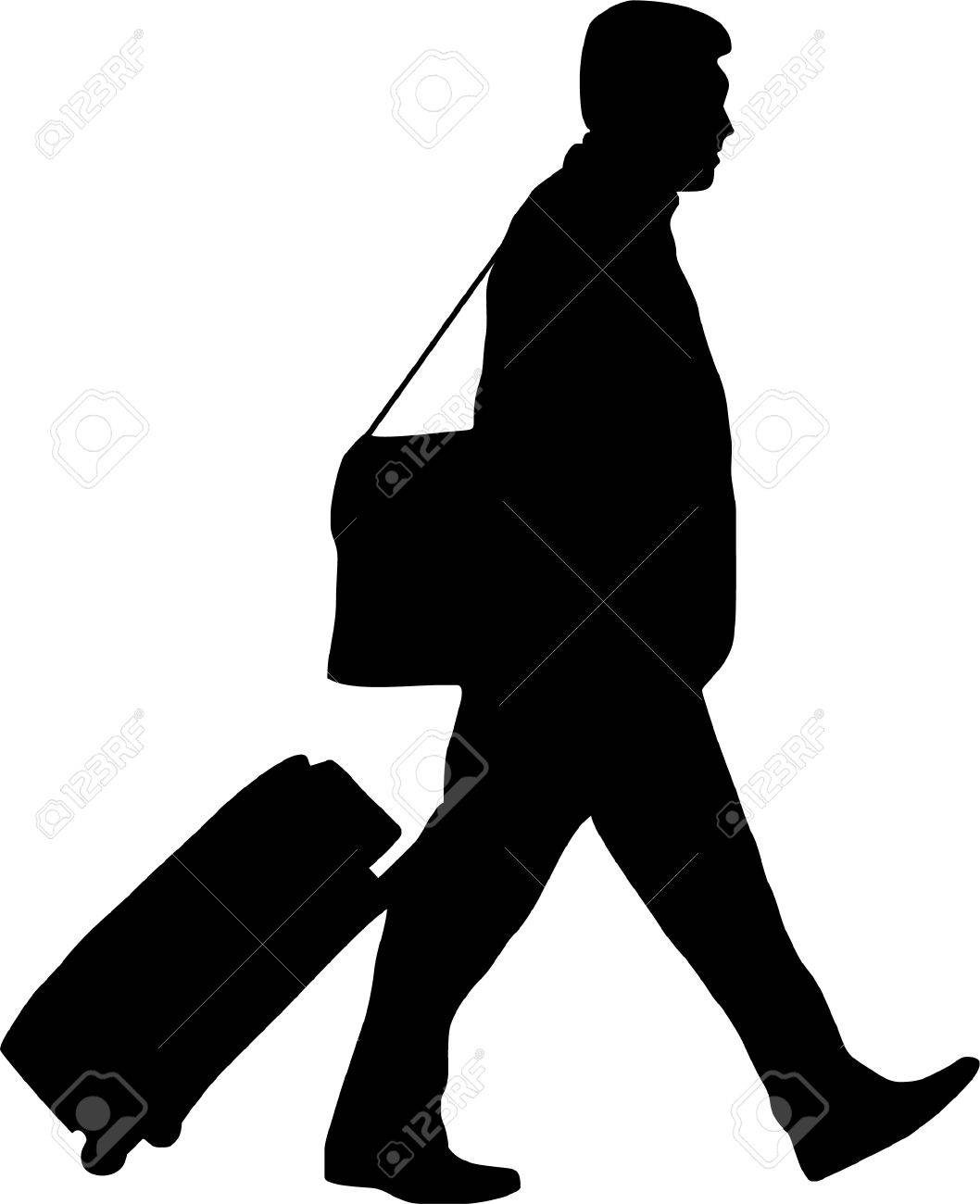 illustration of a man with trolley - 3250679