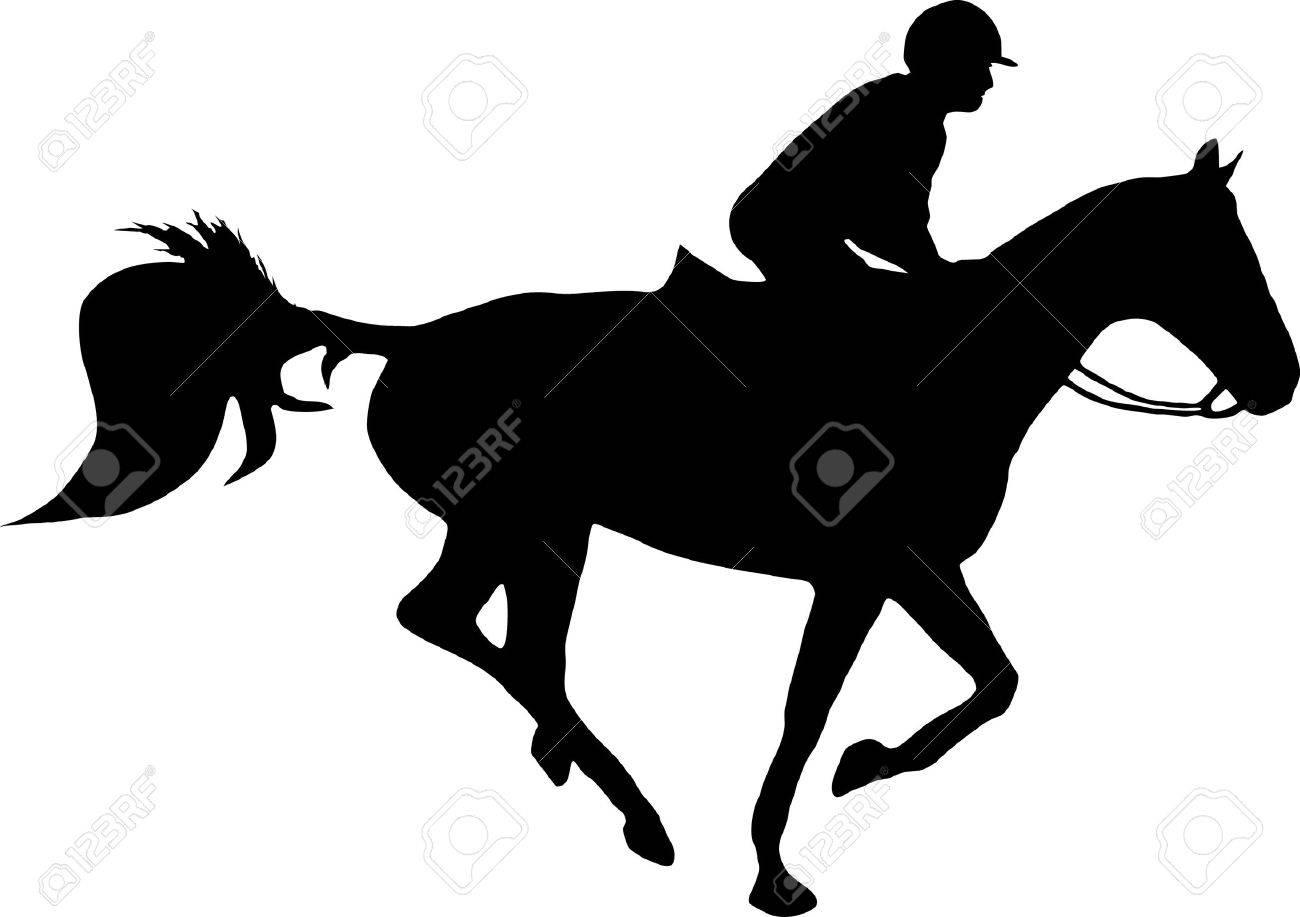 illustration of a horse and jockey Stock Vector - 3886996