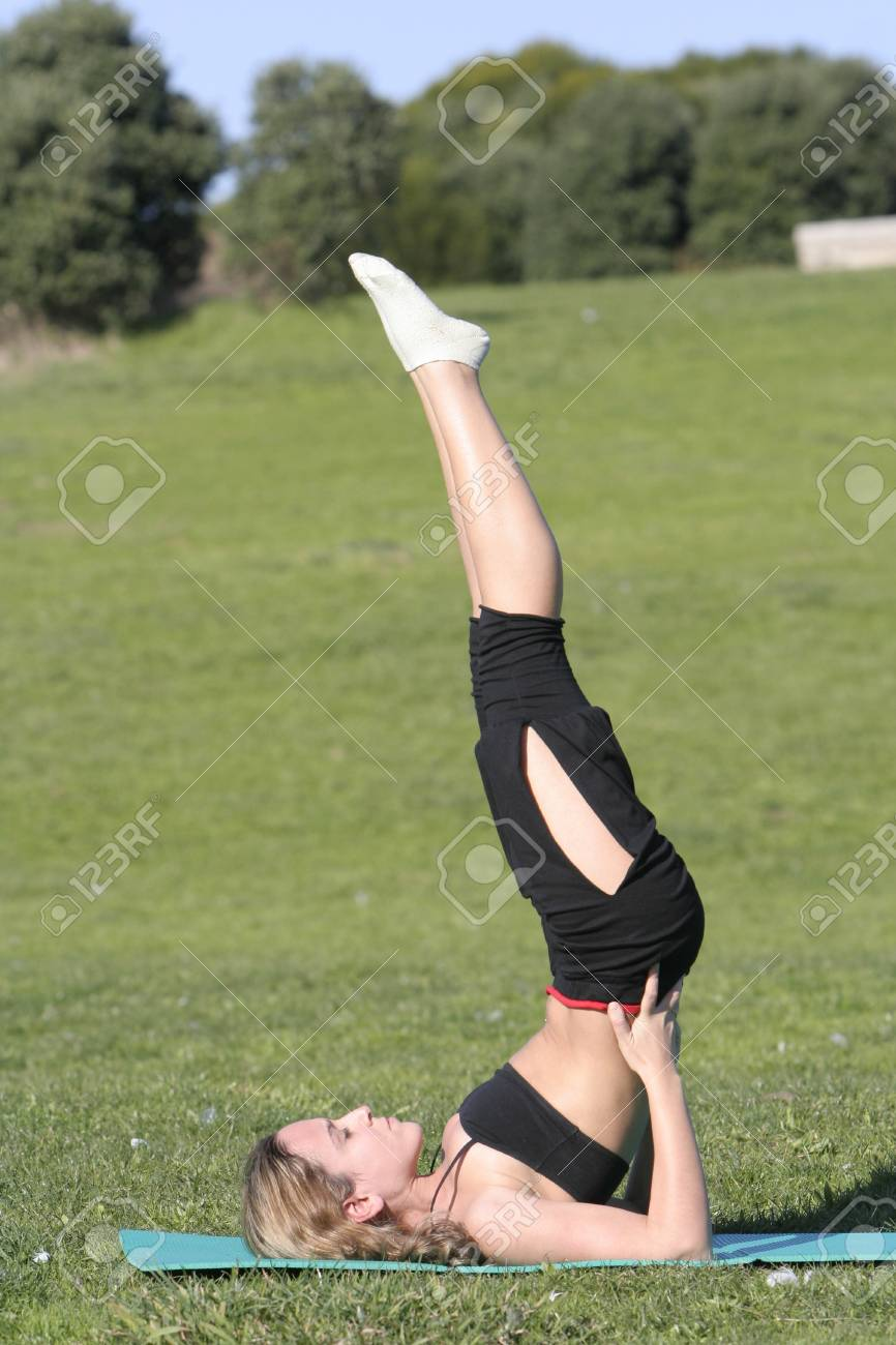 woman stretching in the park Stock Photo - 4289662