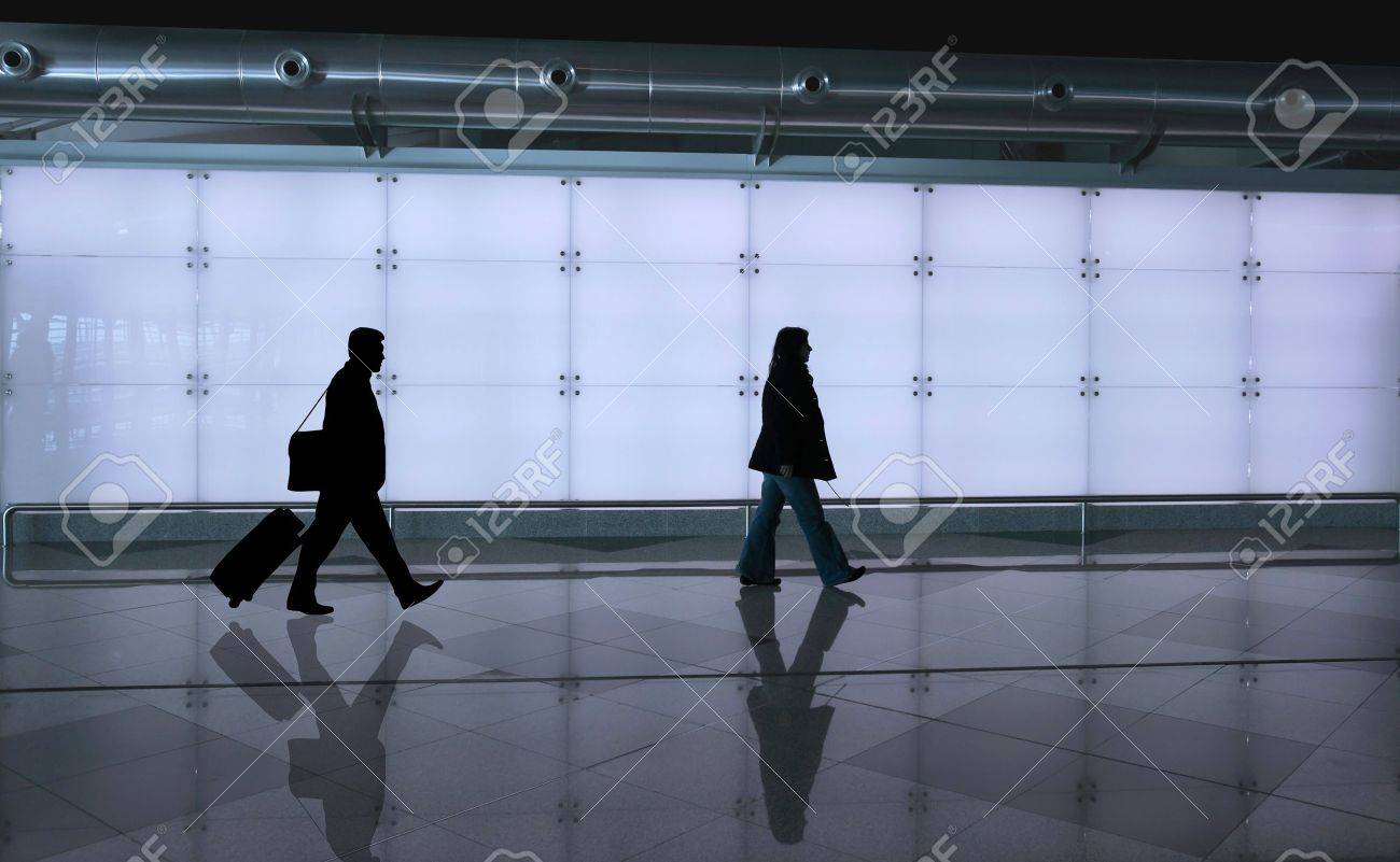 girl walking with reflex on the floor Stock Photo - 4336805