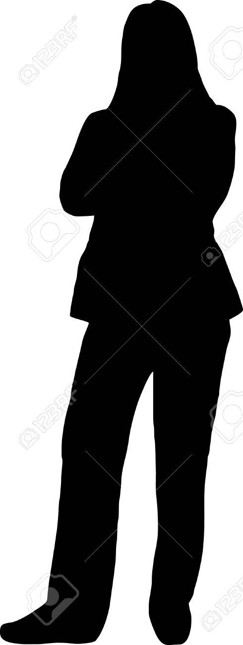 illustration of an woman silhouette Stock Vector - 4467886