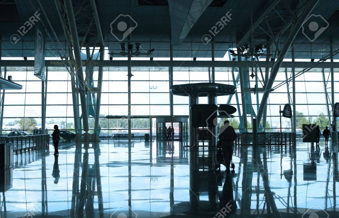people reflex in the airport Stock Photo - 4618084