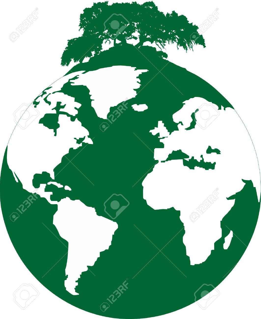 illustration of a ecological footprint of mankind on the planet Stock Vector - 8253810