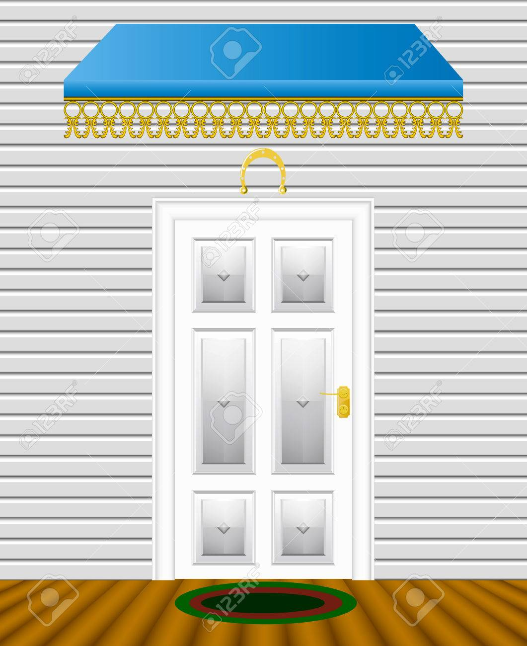 The entrance door of the house is shown in the picture. - 9134941