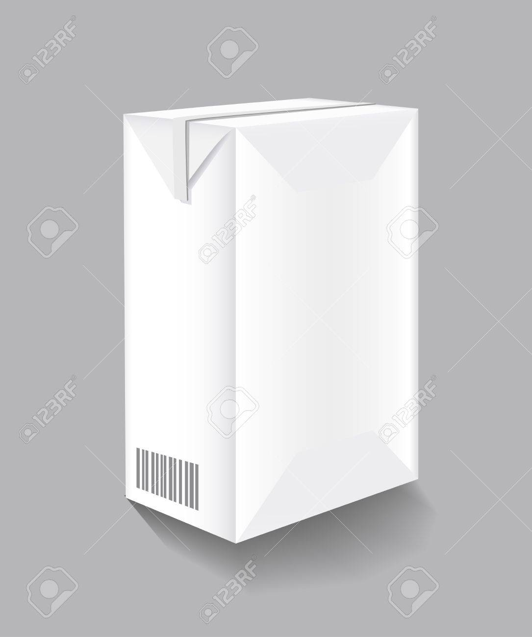 Packaging of milk is shown in the picture Stock Vector - 9230562