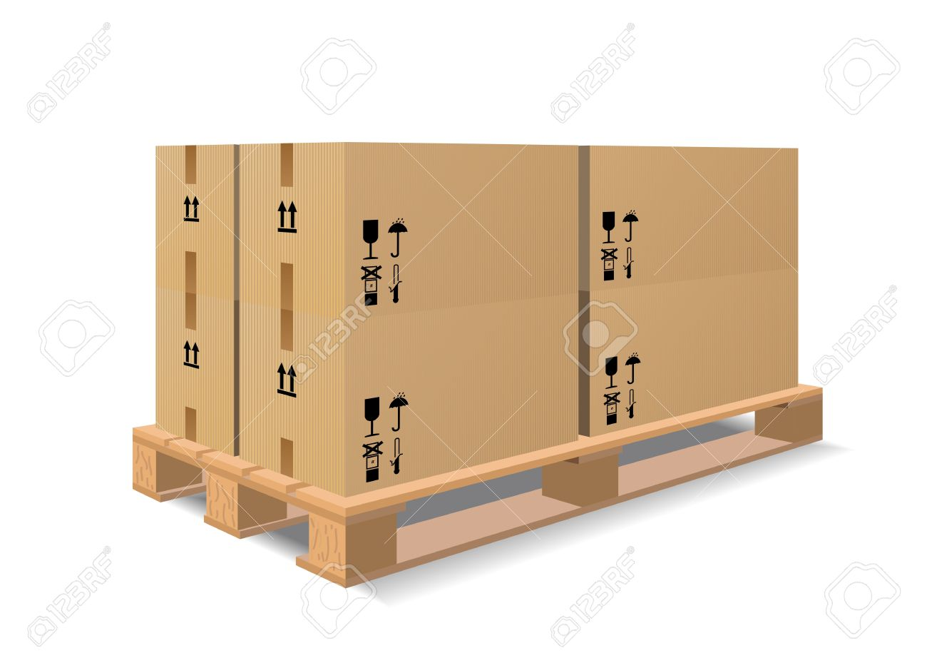 A wooden pallet with boxes are shown in the image. - 9275070