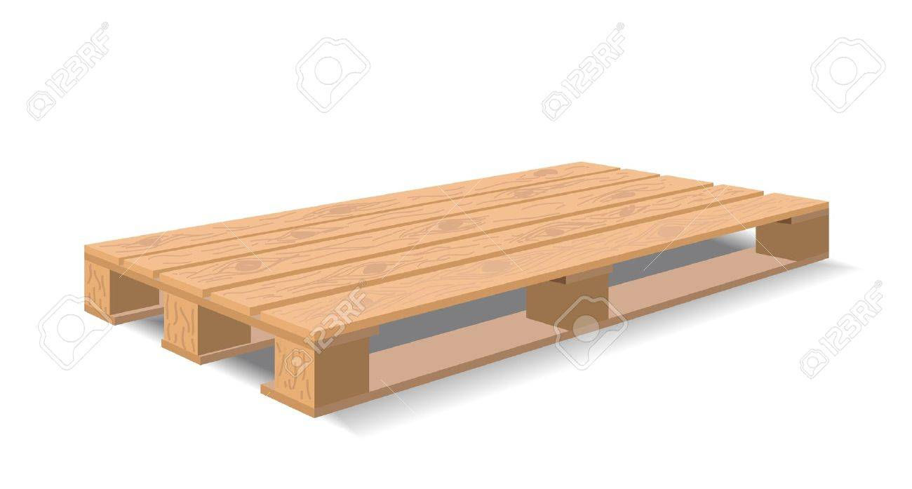 A wooden pallet is shown in the picture. - 9275071