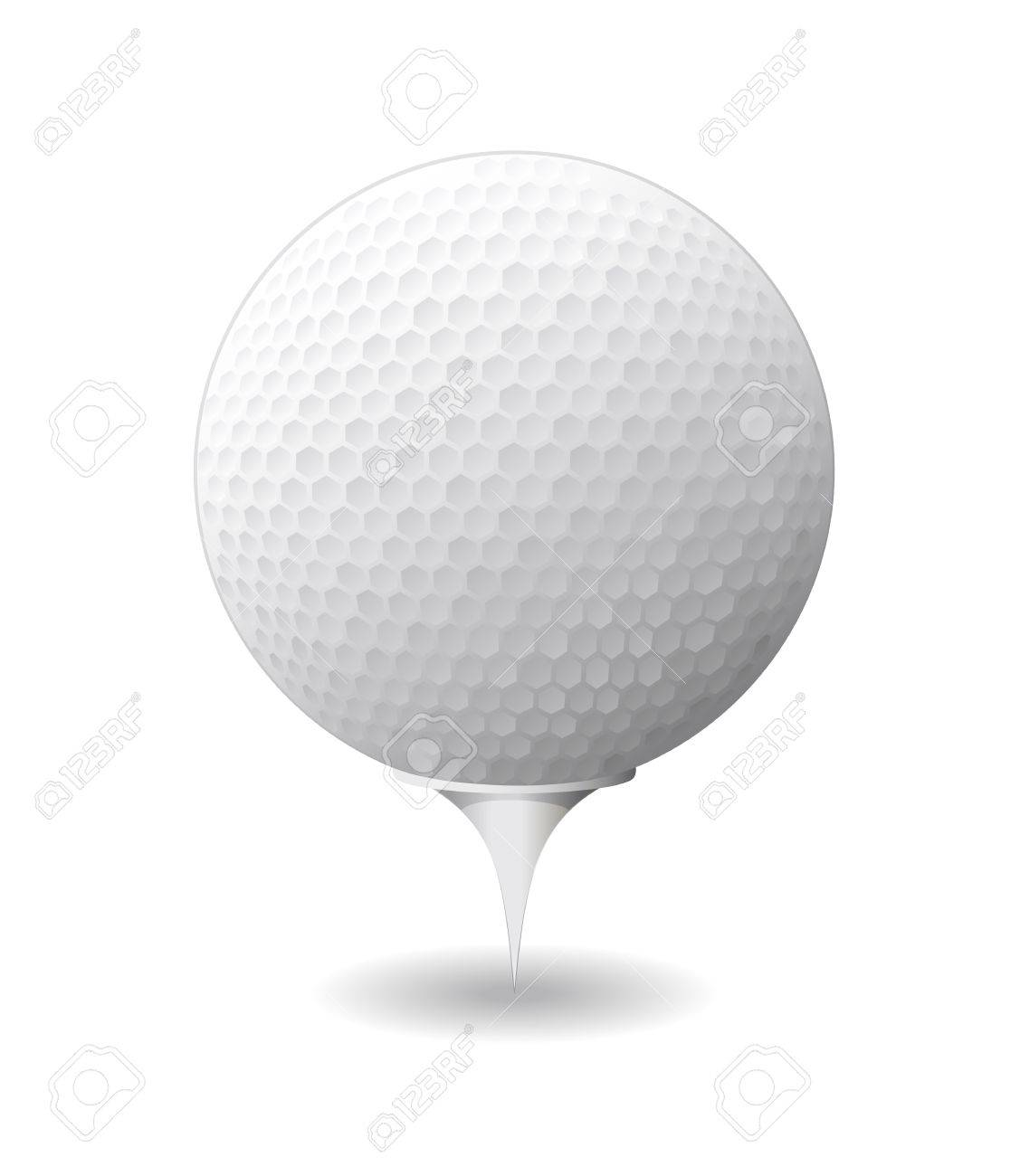 Golf ball is shown in the image Stock Vector - 9655798