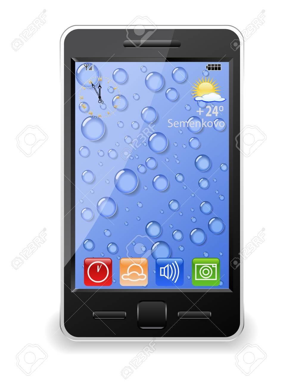 Modern mobile phone is shown in the image. - 11056942