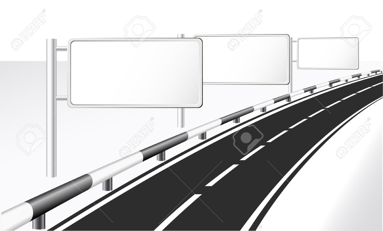 Highway and banner ads Stock Vector - 12941701