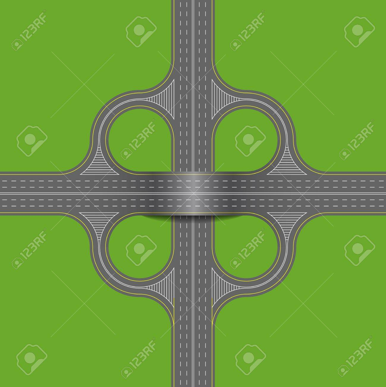 Crossroads is shown in the picture. Stock Vector - 16888706