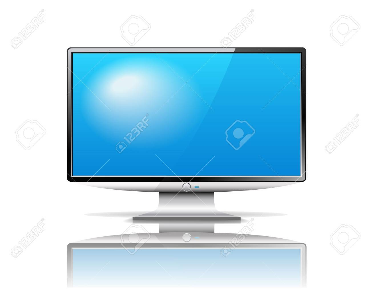 Modern TV is on the white background. Stock Vector - 18246353