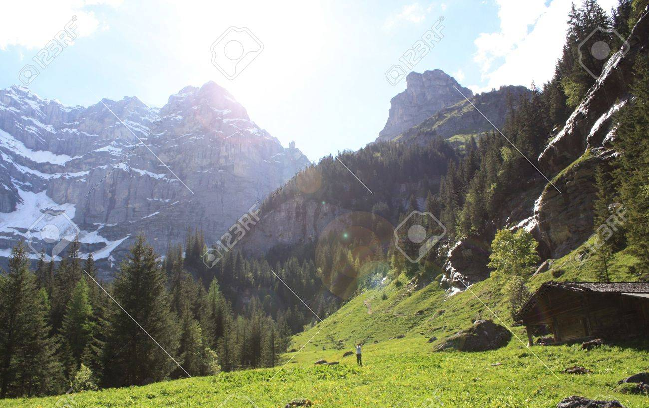 Mountain landscape is shown in the image - 20579556