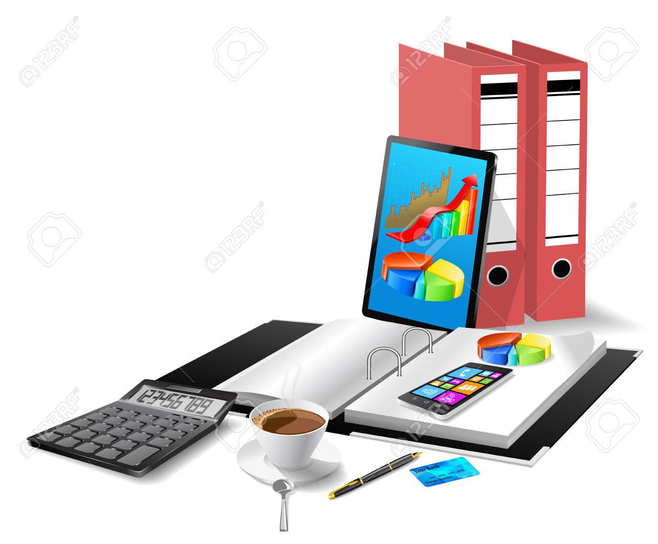 Office modern equipment - 27535722