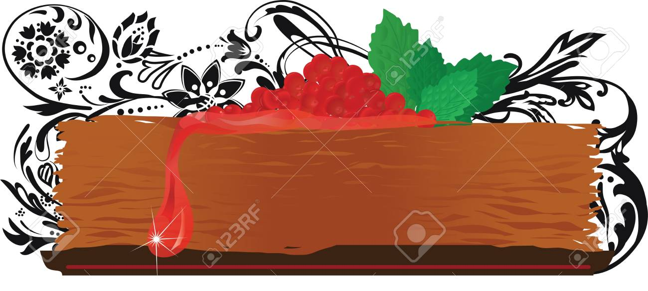 Russian Carnival with pancake and jam Stock Vector - 17511222