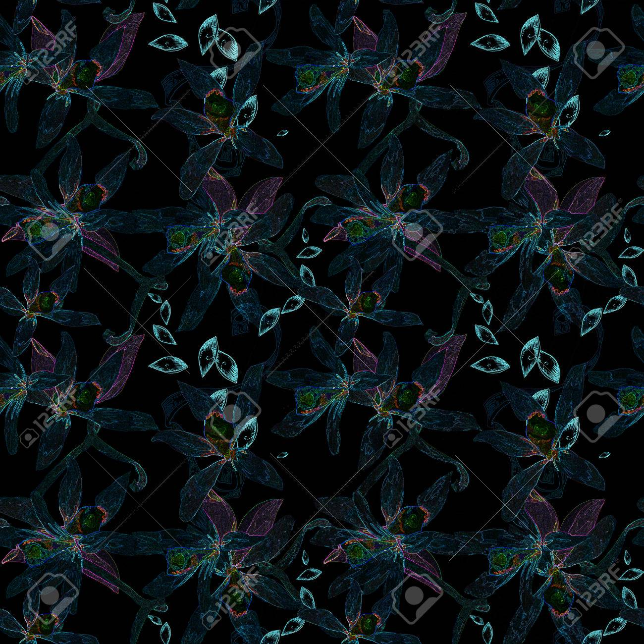 Floral seamless photoshop abstract pattern for design