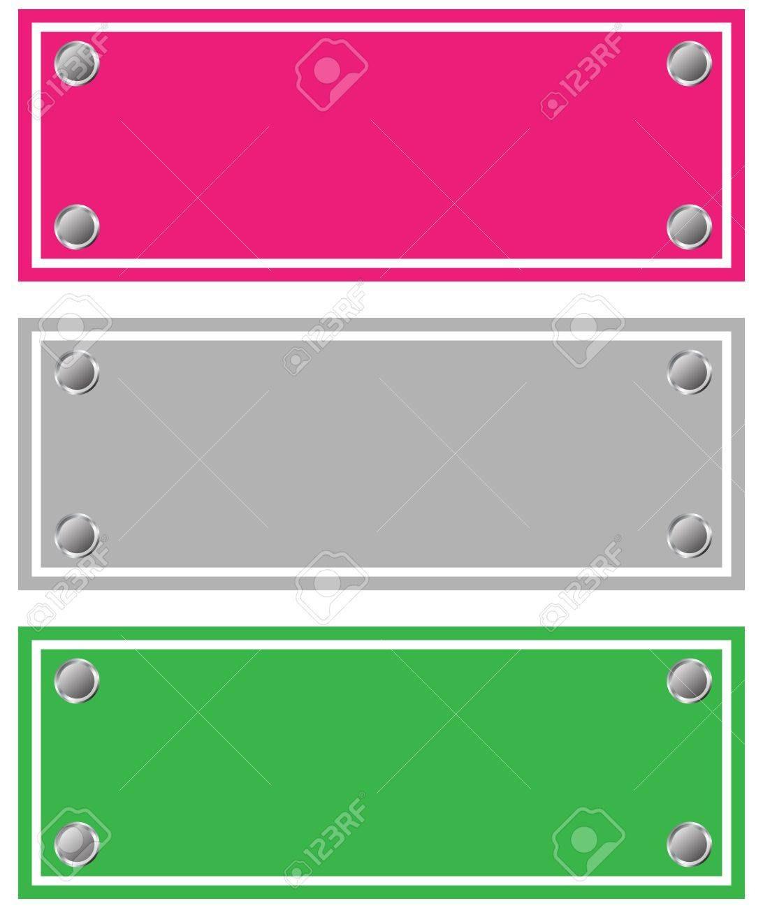 Empty cardboards, stickers for shops Stock Vector - 18346332