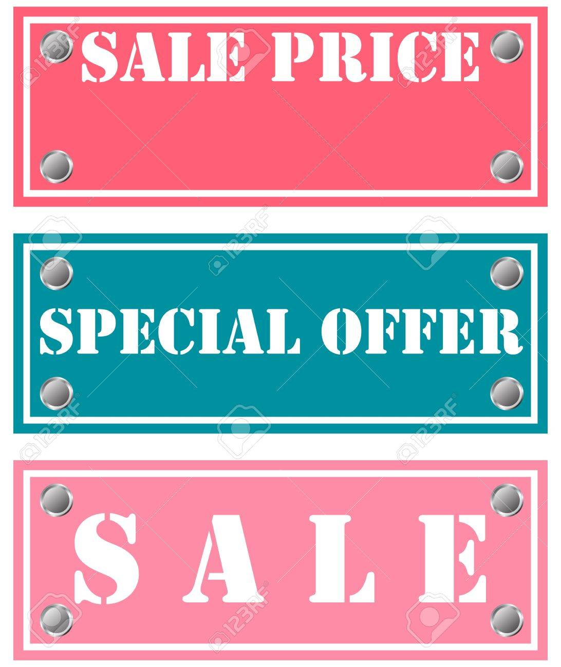 special offer and sale stickers Stock Vector - 18346340