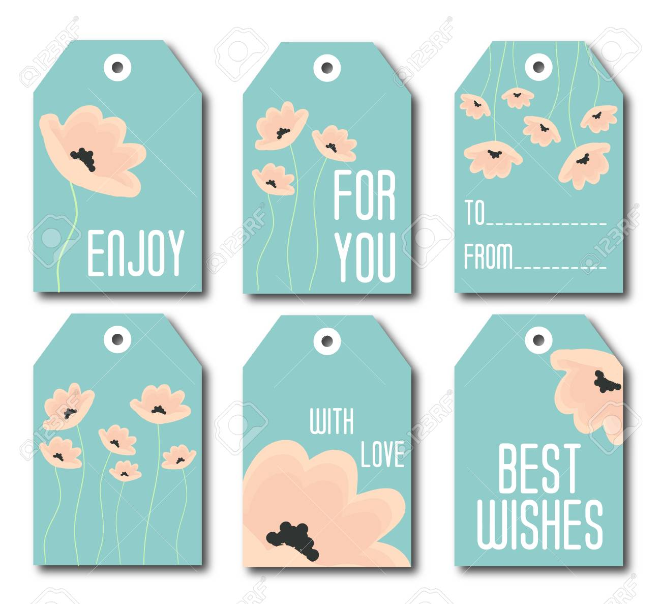 photograph regarding Cute Gift Tags Printable named Range of 6 lovable redy-towards-employ reward tags. Mounted of 6 printable..