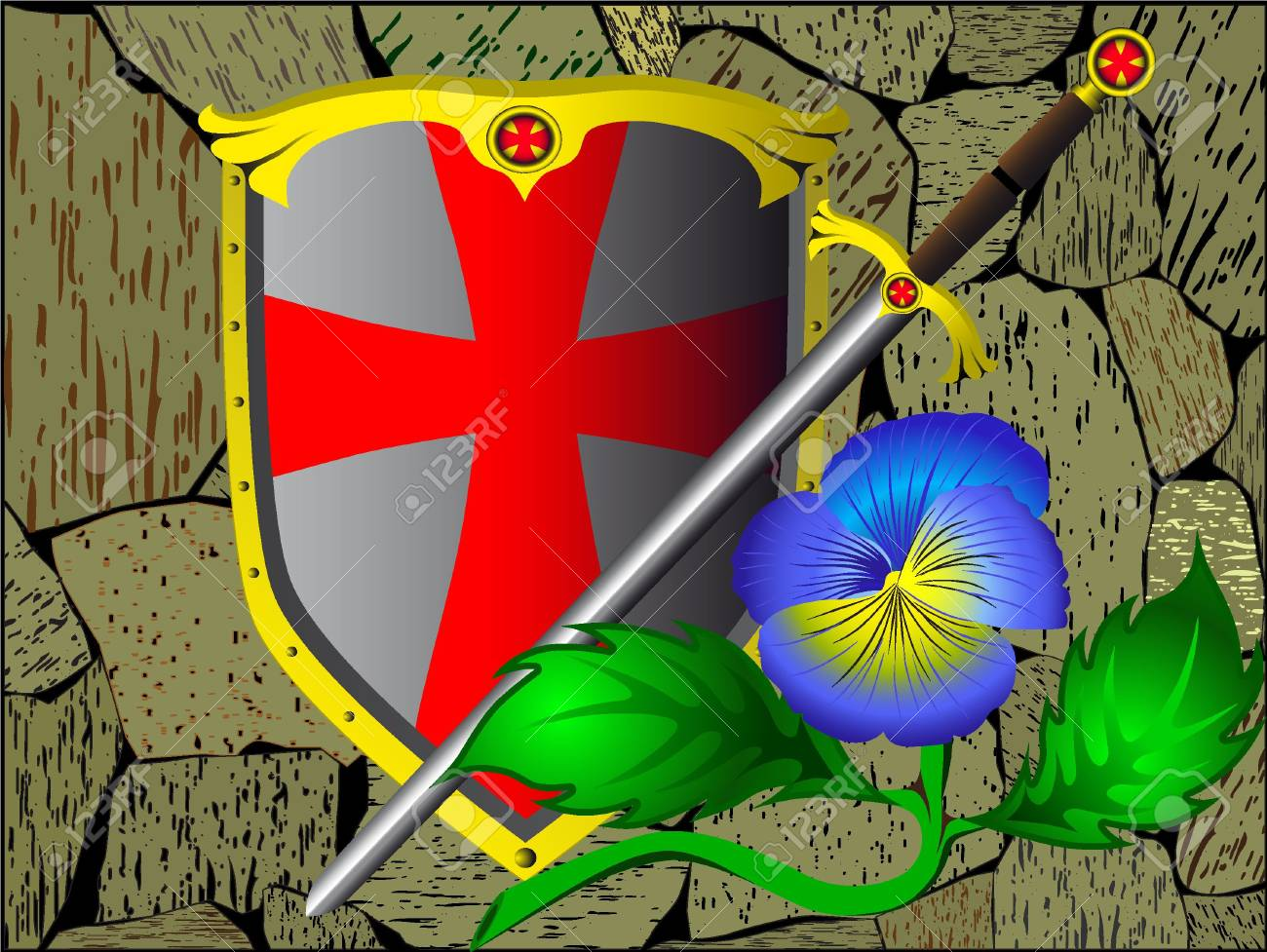 Armour and flower Stock Photo - 6127325