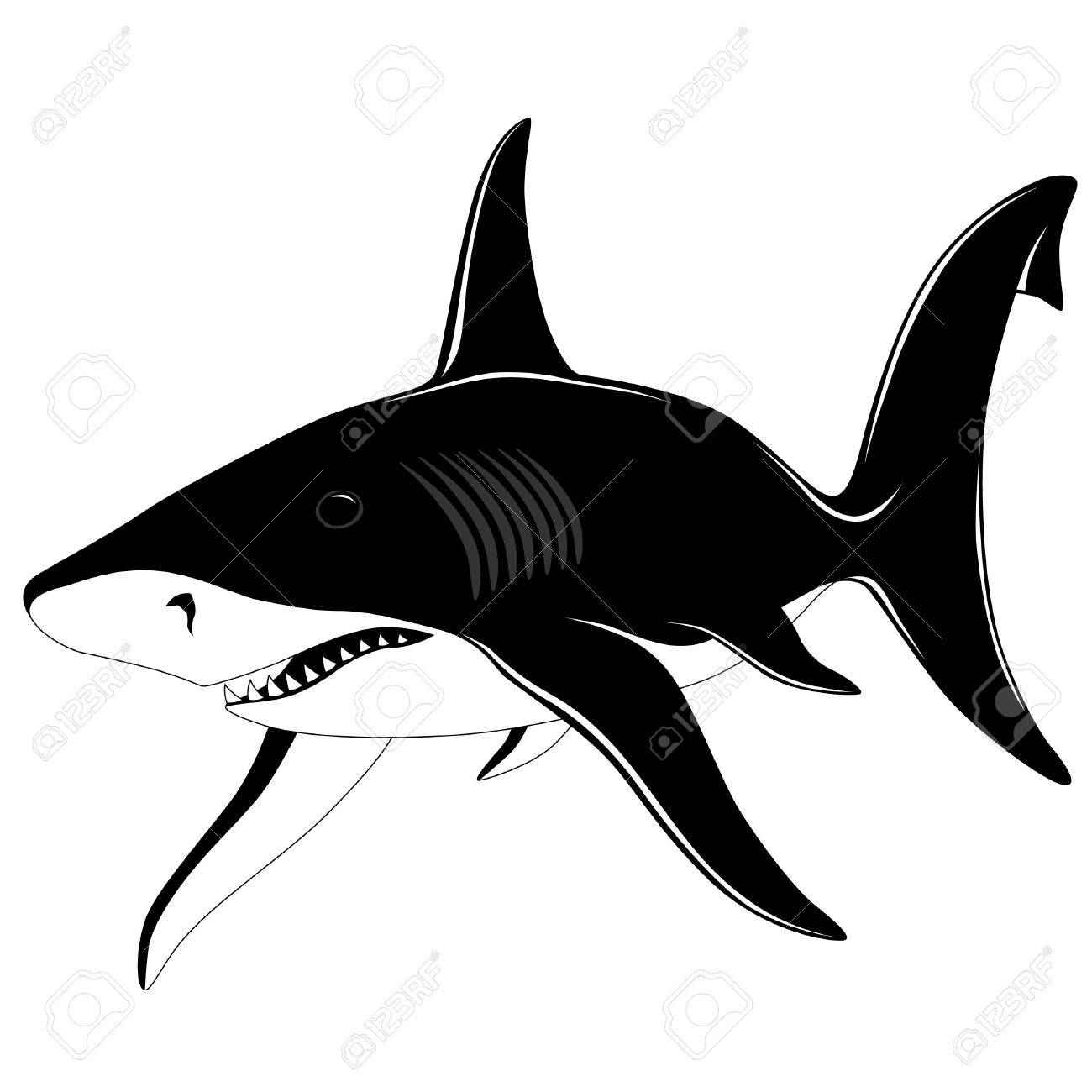 Shark, tattoo Stock Vector - 6463042