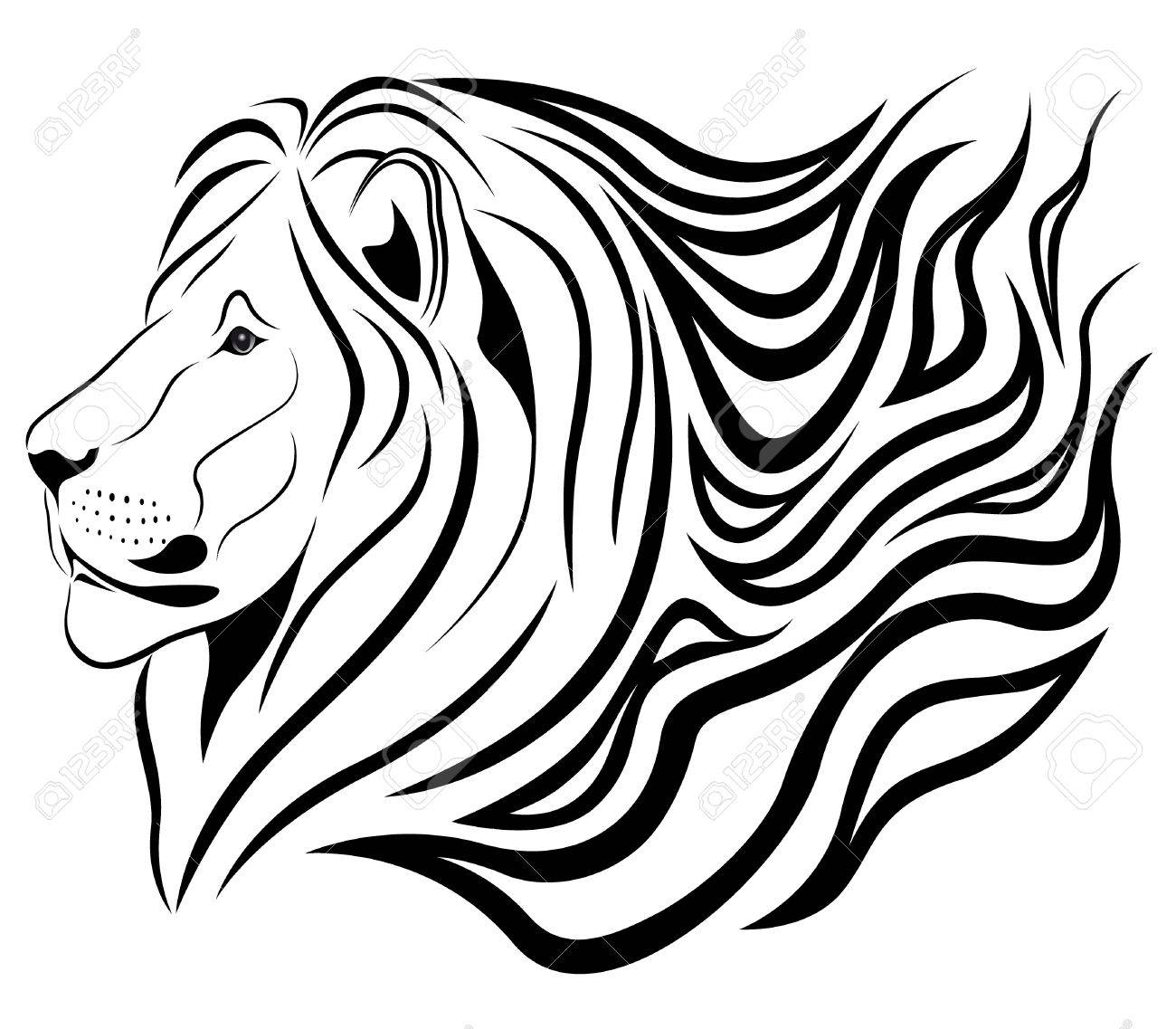 Lion in the form of a tattoo Stock Vector - 7785468