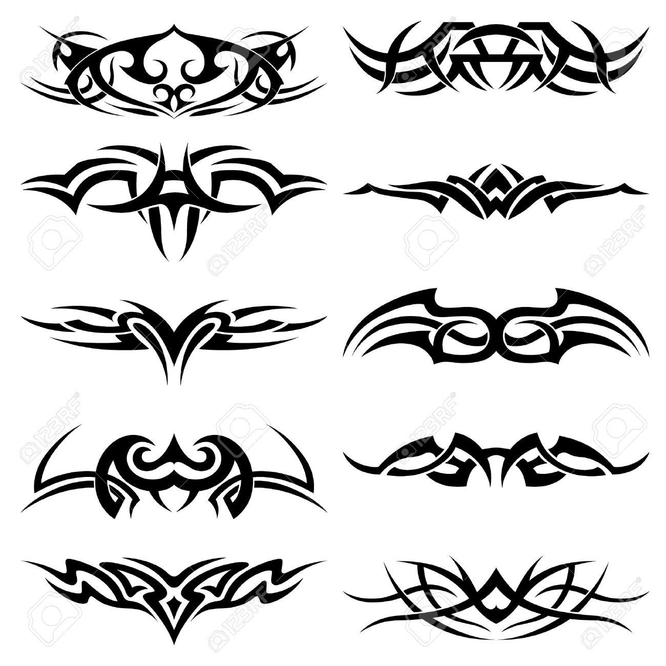 Tribal-Tattoos 8116763-Set-of-tribal-tattoo-including-Stock-Vector-design