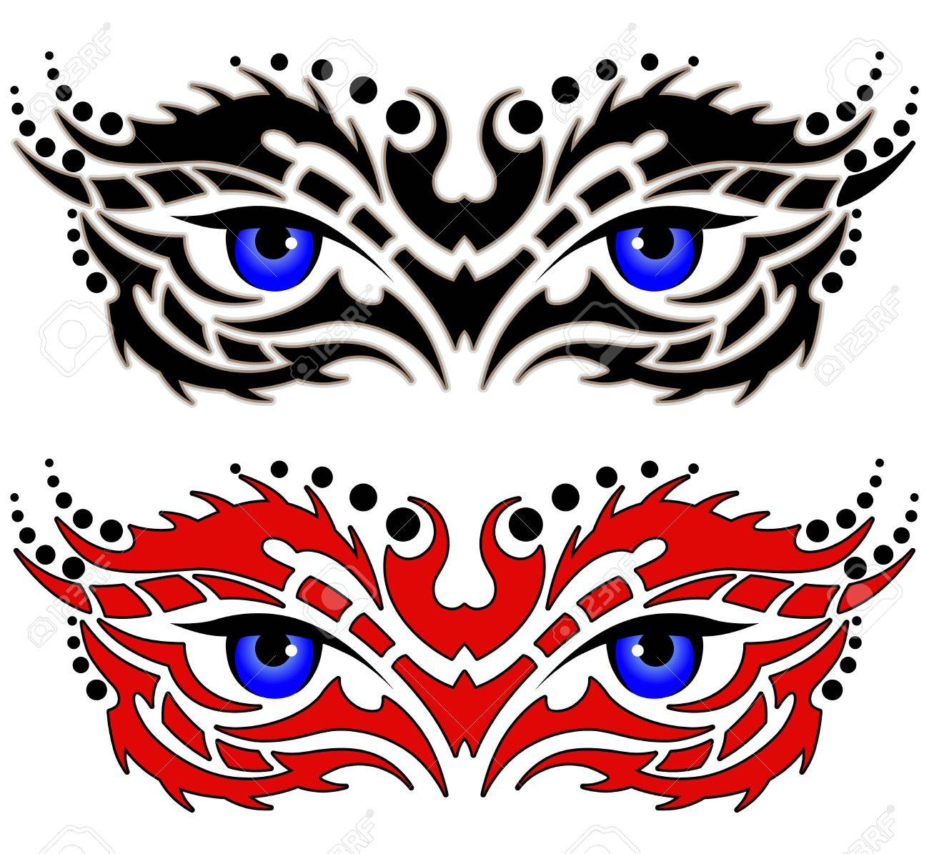 88022836a71e7 Eyes, Tribal Tattoo Royalty Free Cliparts, Vectors, And Stock ...