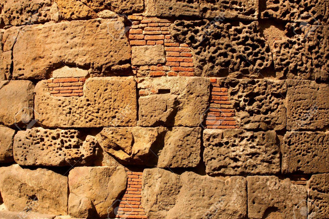 Roman wall in the city of Barcelona. Background picture Stock Photo - 6964410
