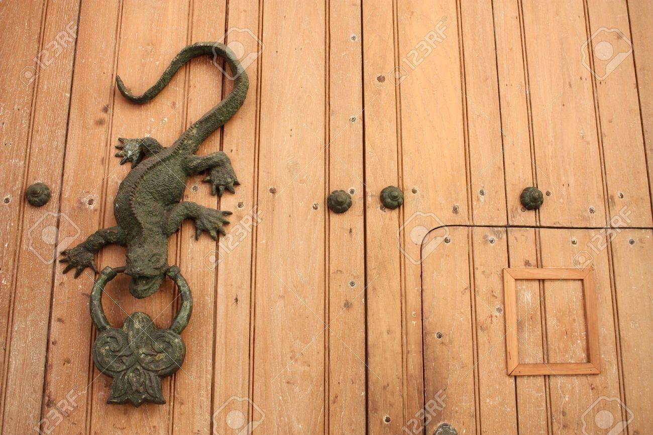 Metal Knocker Shaped Dragon Or Lizard. Spanish Colonial Style ...
