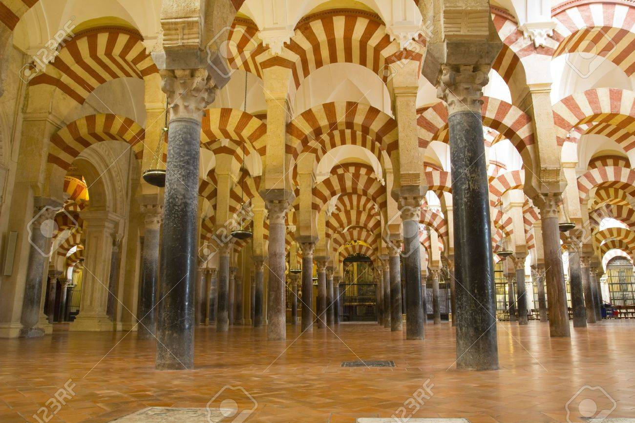 The Great Mosque or Mezquita famous interior in Cordoba, Spain: February 10, 2012 Stock Photo - 13365530