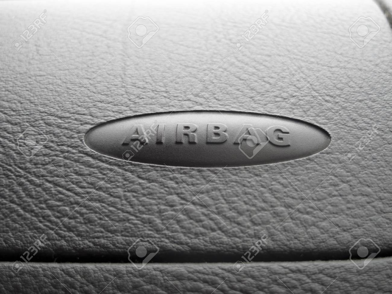 Macro of an airbag sign on a dashboard  Photo with copyspace Stock Photo - 17011206