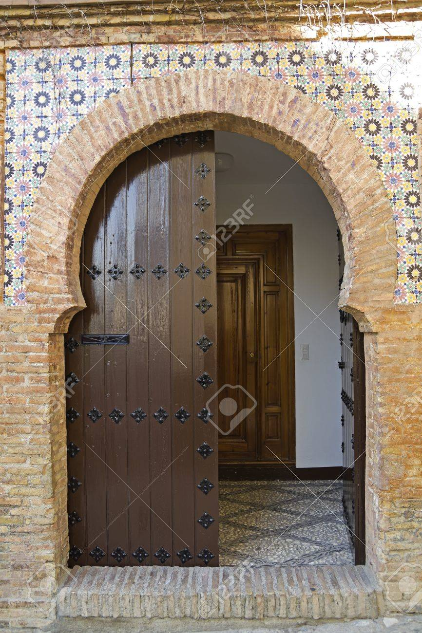 Oriental door in a house of Granada Andalusia Spain Stock Photo - 17895303 & Oriental Door In A House Of Granada Andalusia Spain Stock Photo ...